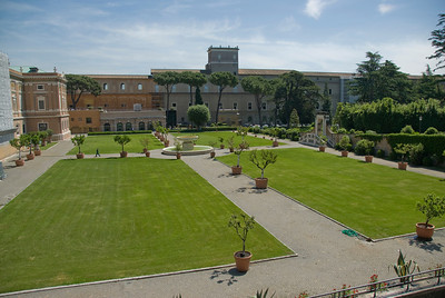 The Vatican City Gardens in Rome, Italy
