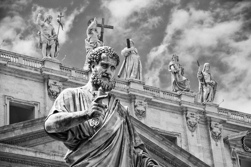 Statue of St. Peter in St. Peter's Square, Vatican City