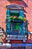 Balcony with flowers in Venice, Italy