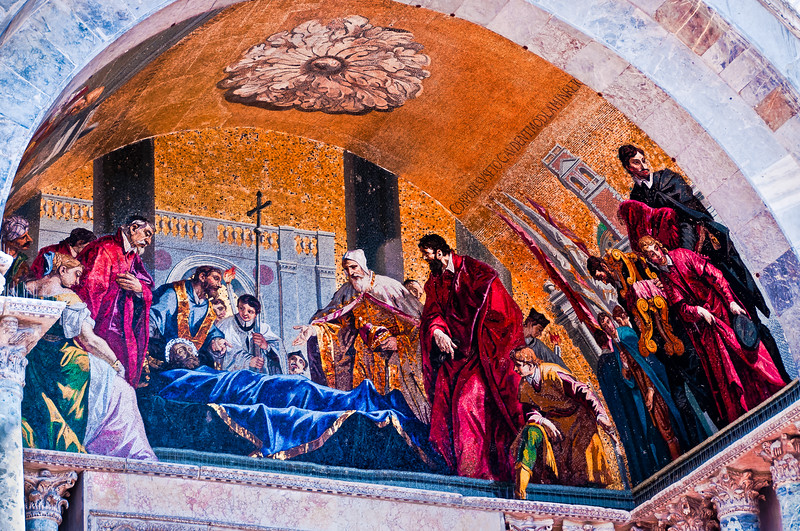 Mosaic. San Marco Plaza. Venice, Italy