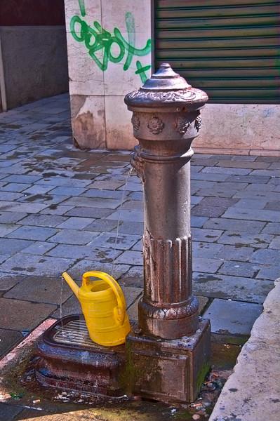 Water fountain, Venice, Italy