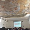 "A really nice place for a conference. This is the Vienna Aula der Wissenbchaft, or ""Hall of Science""."