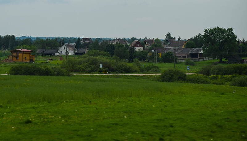 View from the bus between Riga and Vilnius