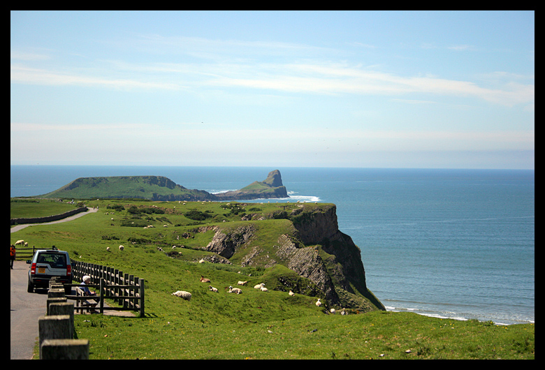 We took a hike out over Worms Head which you can only do at a certain time because of the tides. It was a beautiful day for a hike!