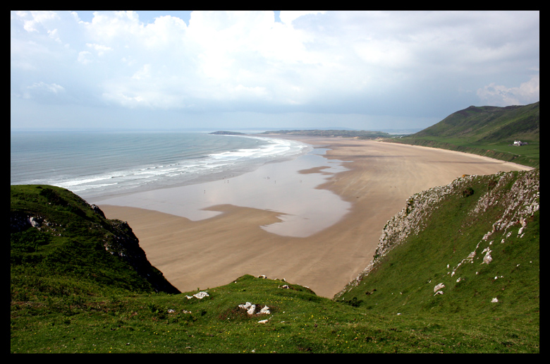 This beach is massive!!! Can you see the people down there? Rhossili Beach