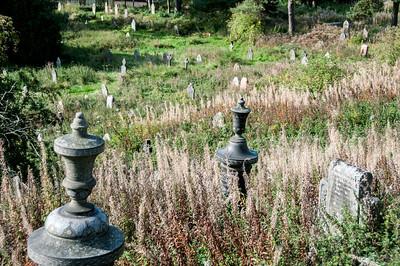Village churchyard in Blaenavon, Wales, England
