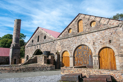 Blaenavon IronWorks and Museum in Wales, England