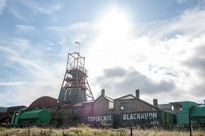 Big Pit National Coal Museum in Blaenavon's industrial landscape - Wales, England