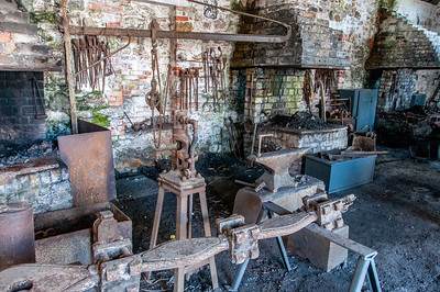 Inside Blaenavon Ironworks Museum in Blaenavon, Wales, England