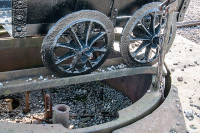 Wheel barrow at Big Pit National Coal Museum in Blaenavon, Wales, England
