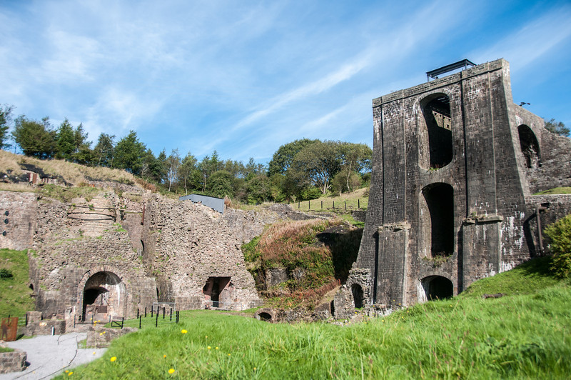 World Heritage Site at Blaenavon Ironworks - Wales, England