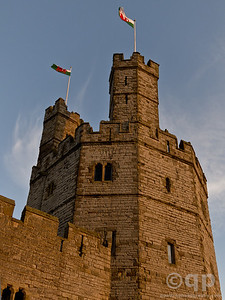 WELCH FLAGS ON CASTLE TURRETS