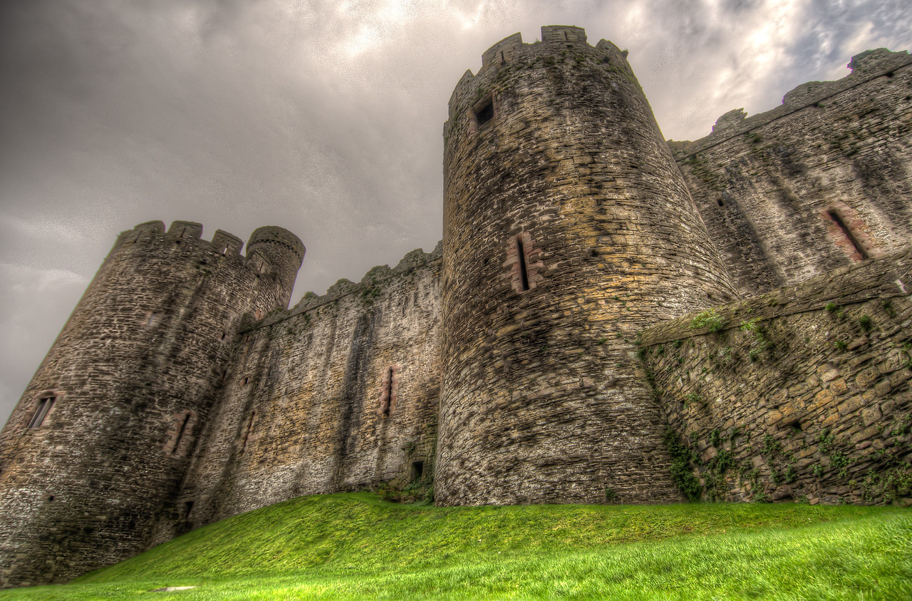 Chepstow Castle in Wales, England
