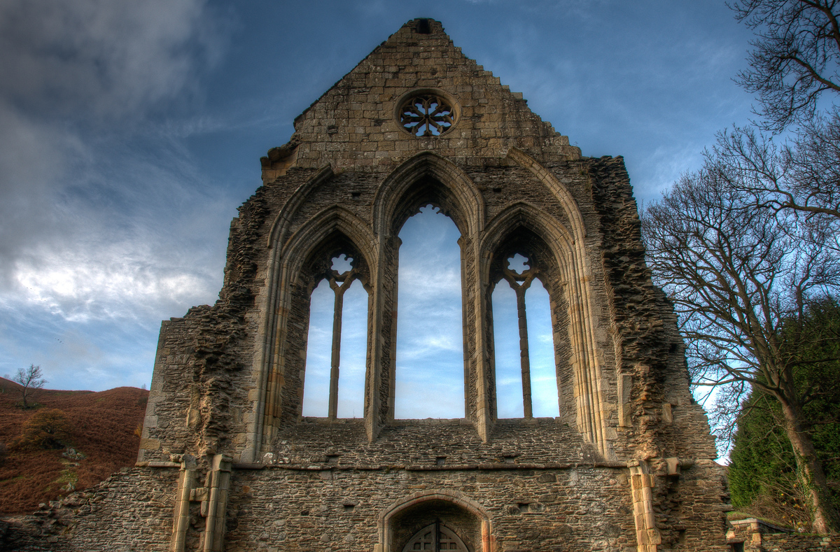 The Valle Crucis Abbey in Llangollen, Wales