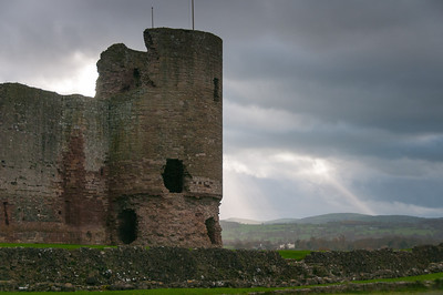 One of the towers at Chepstow Castle in Wales, United Kingdom