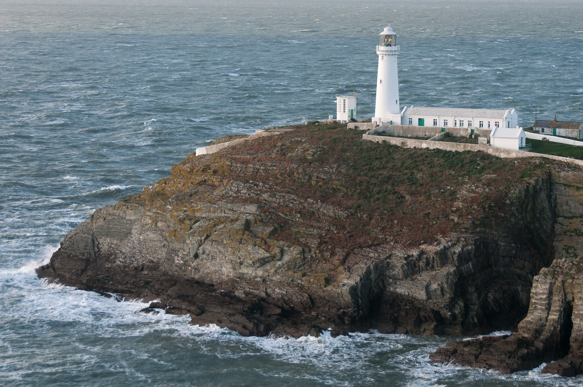 South Stack Lighthouse in Holyhead, Wales