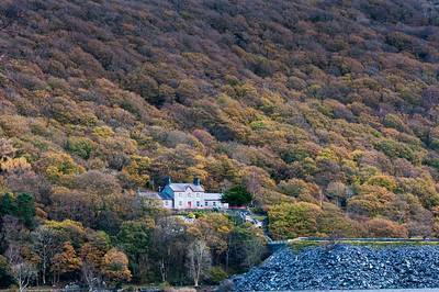 Isolated house on a hill in Wales, England