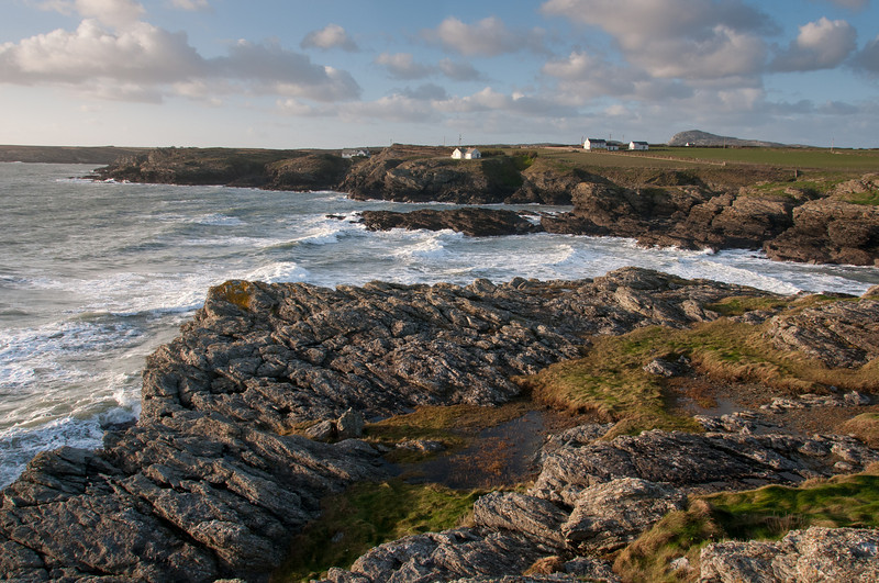 Anglesey Coastal Path and cliffs in Wales, England