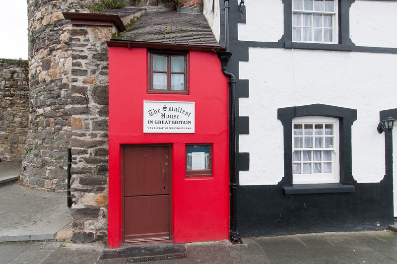 The Smallest House in Great Britain aka Quay House in Conwy, Wales, England