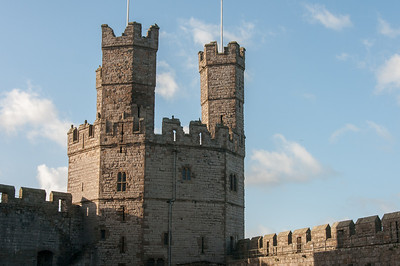The Eagle Tower at Caernarfon Castle in Wales, England