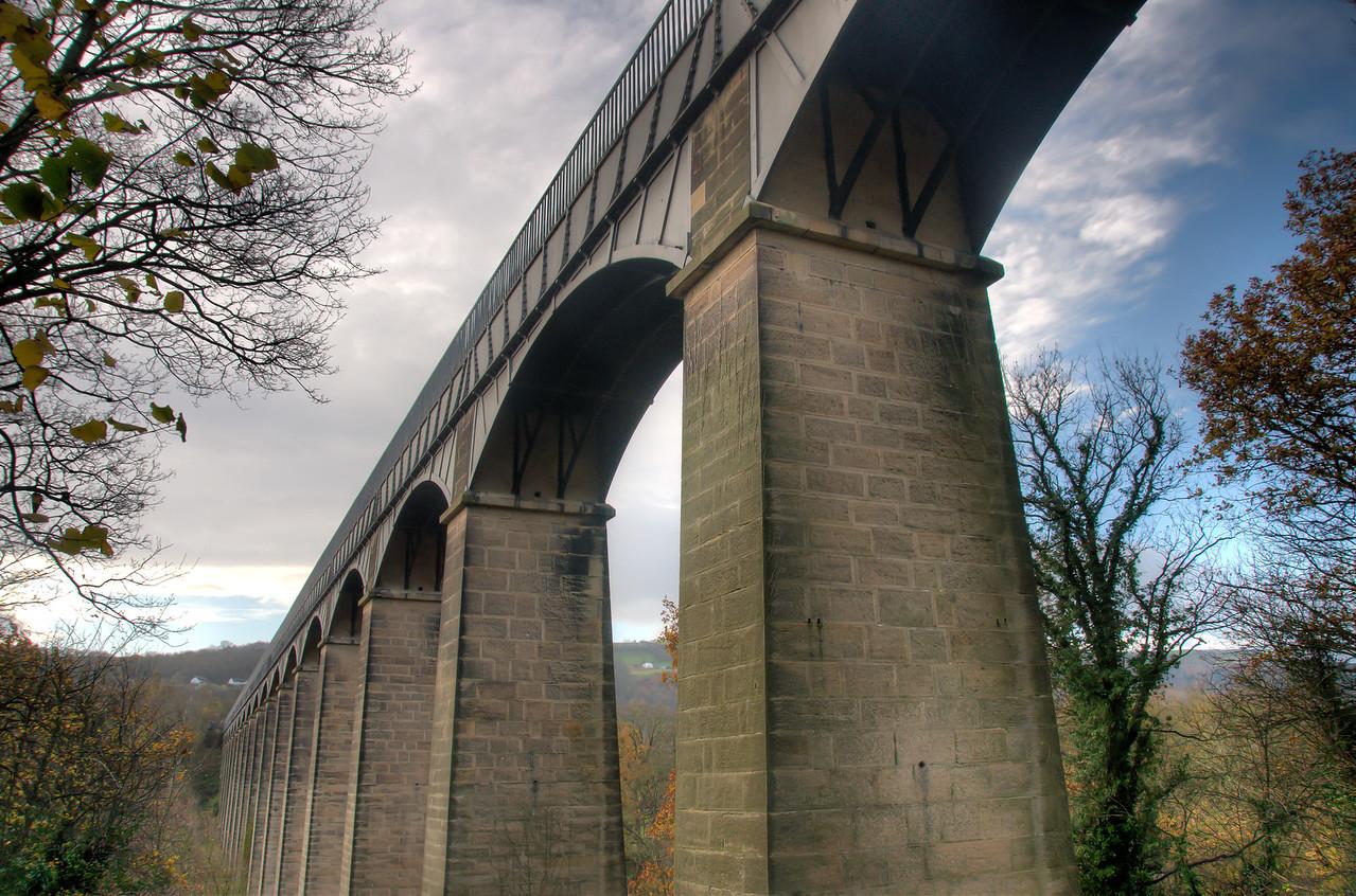 Pontcysyllte Aqueduct and Canal Llangollen in Wales, United Kingdom