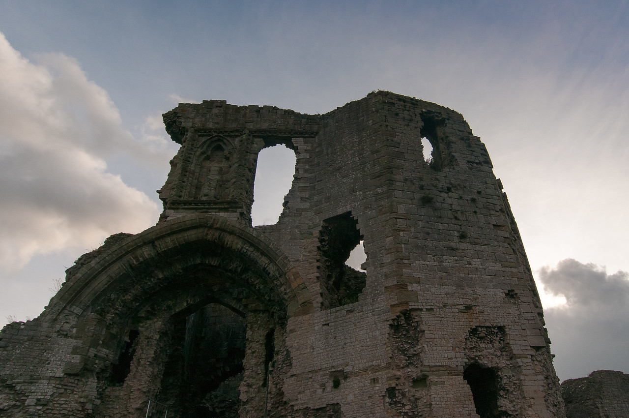 Ruins of the Chepstow Castle in Wales, United Kingdom