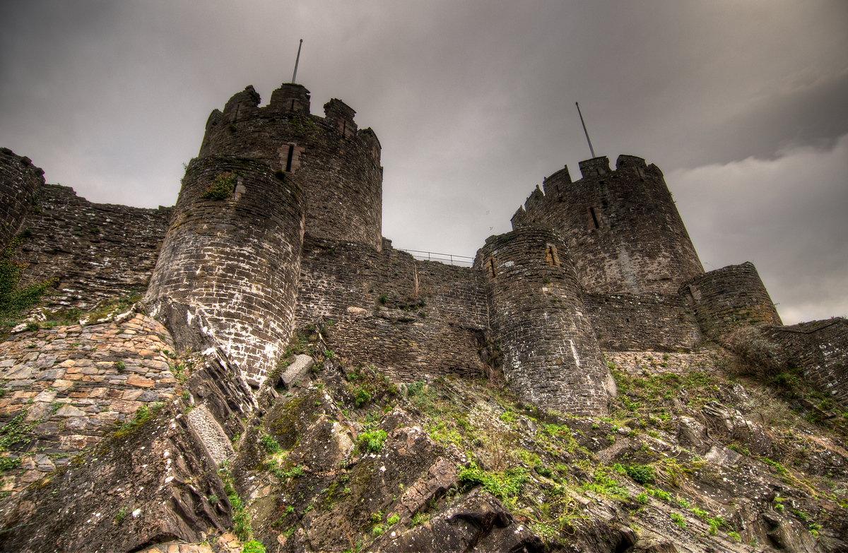 The Walls of the Castle of Conwy in Northern Wales