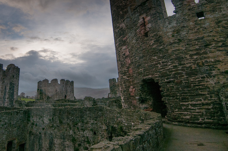 View inside Chepstow Castle in Wales, England
