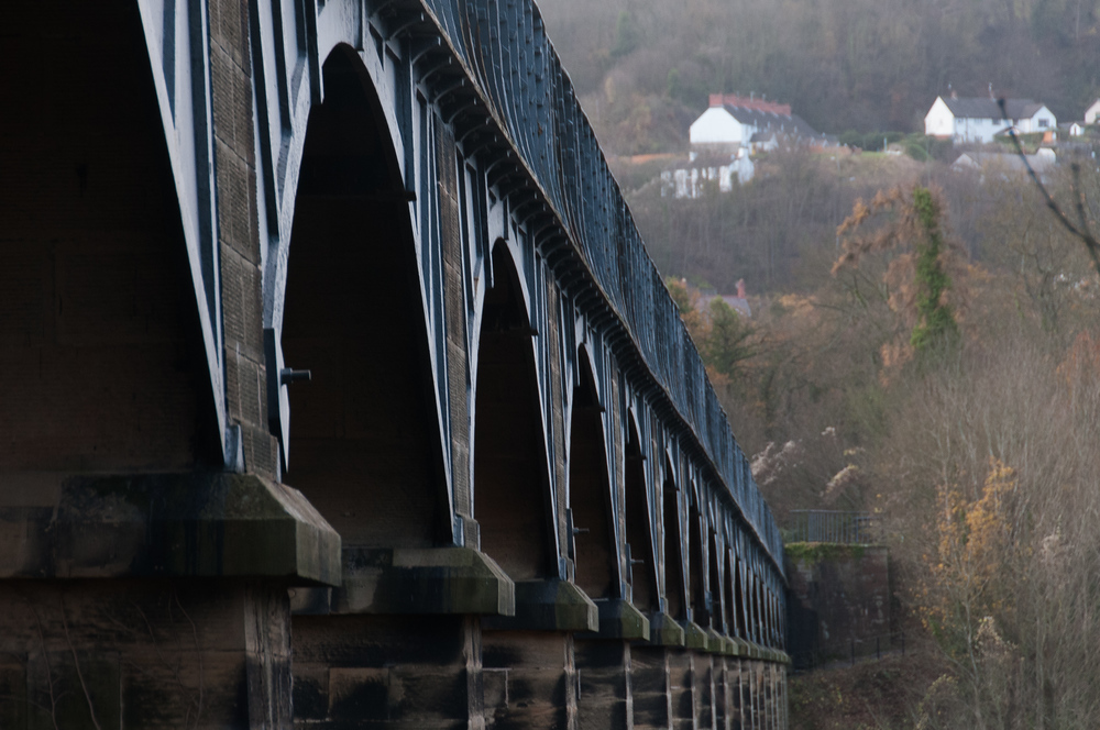 The Pontcysyllte Aqueduct in North Wales