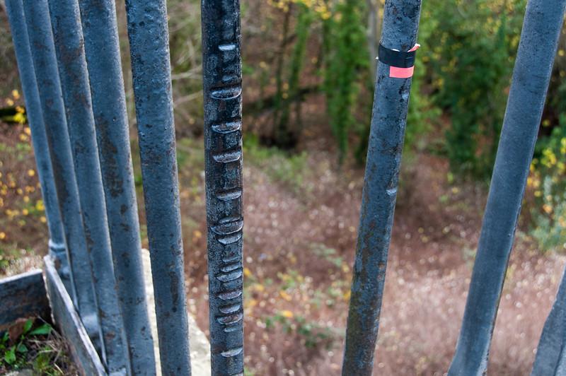 Metal fencing in Pontcysyllte Aqueduct in Wales