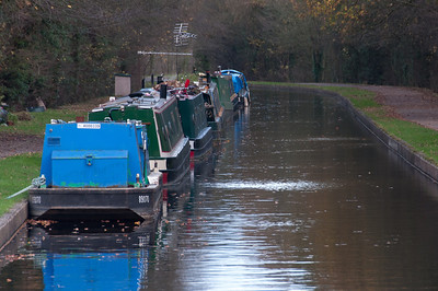 Canal boats in Llangollen Canal in Wales, United Kingdom
