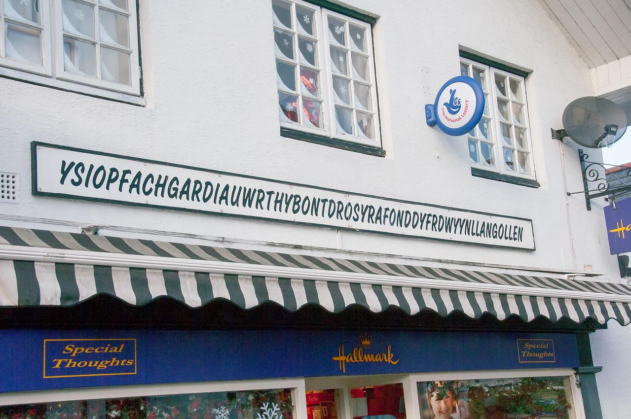 Shop near the Llangollen station in Wales, England