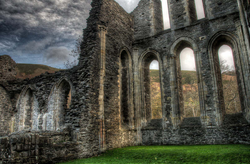 Ruins of Valle Crucis Abbey in Wales, United Kingdom