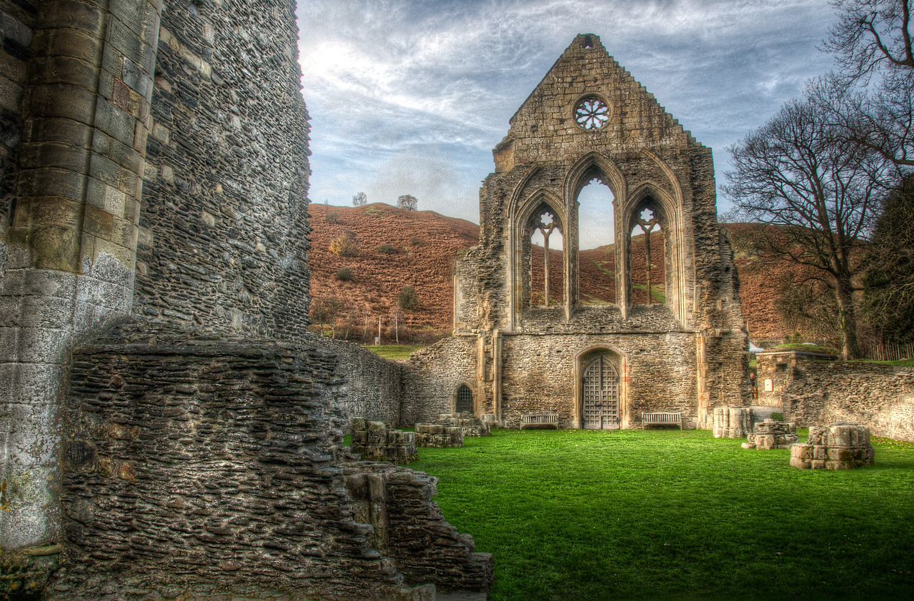 The Valle Crucis Abbey in Wales, England
