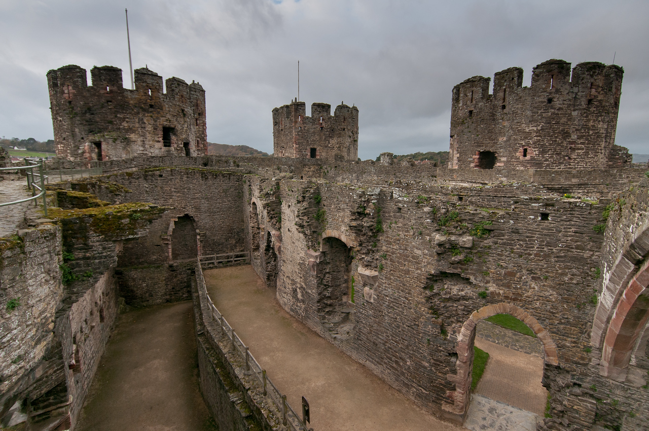 Inside the Chepstow Castle in Wales, England