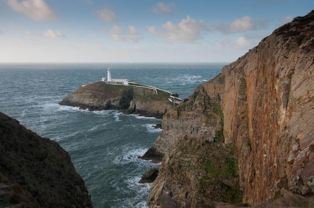 South Stack Lighthouse and Cliffs, Anglesey, Wales, England