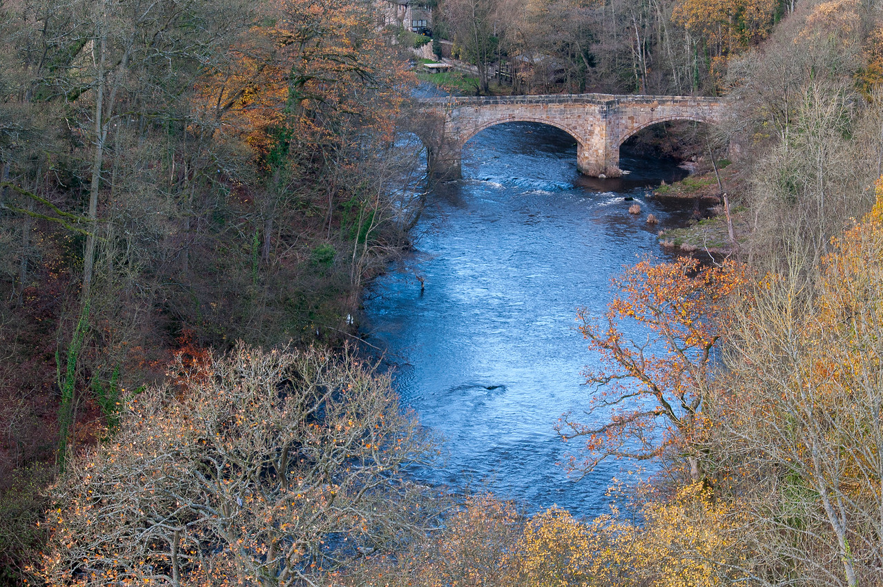 Aerial view of Pontcysyllte Aqueduct and River Dee in Wales
