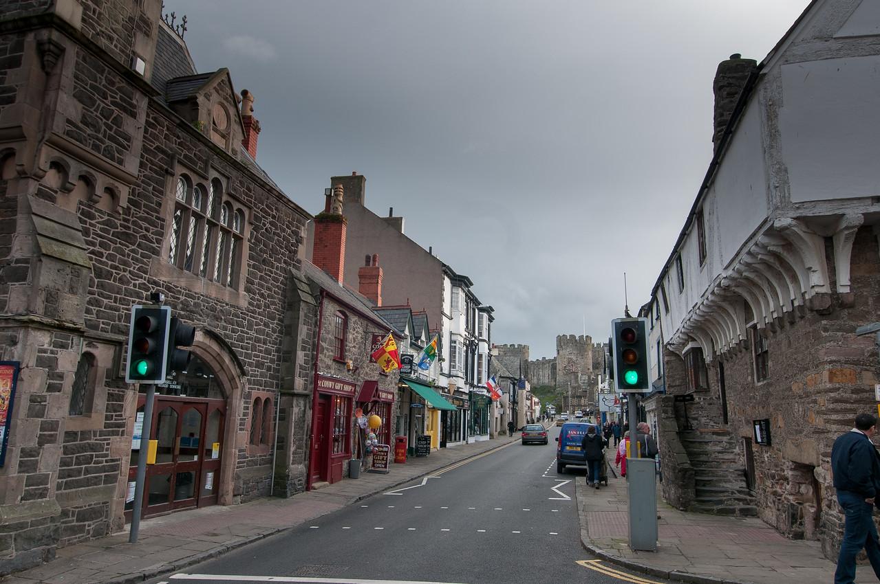 Street Scene in Wales, England
