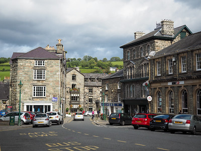 Dolgellau town center in Wales