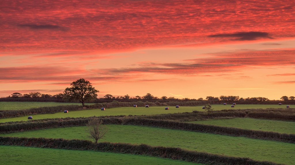 Sunset in the Wales Countryside