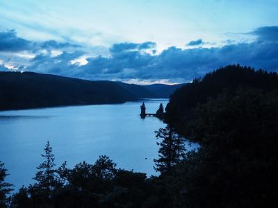 Lake Vyrnwy at twilight