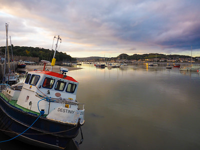 Harbor in Conwy, Wales