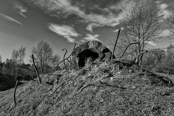 Blast damage, observation cupola Thiaumont, Verdun 2012
