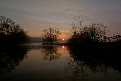 Meuse River Sunrise-where the US Army crossed in 1918 Meuse-Argonne Offensive