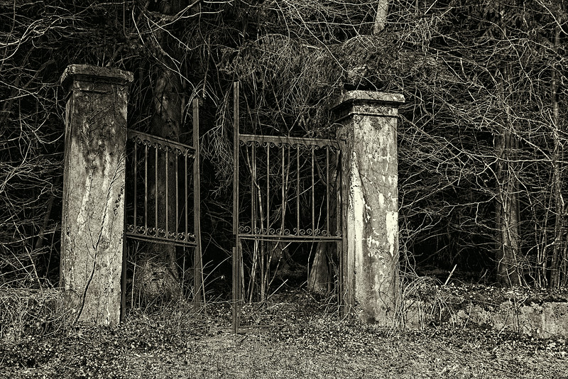 Gate to abandoned German Cemetery. Argonne