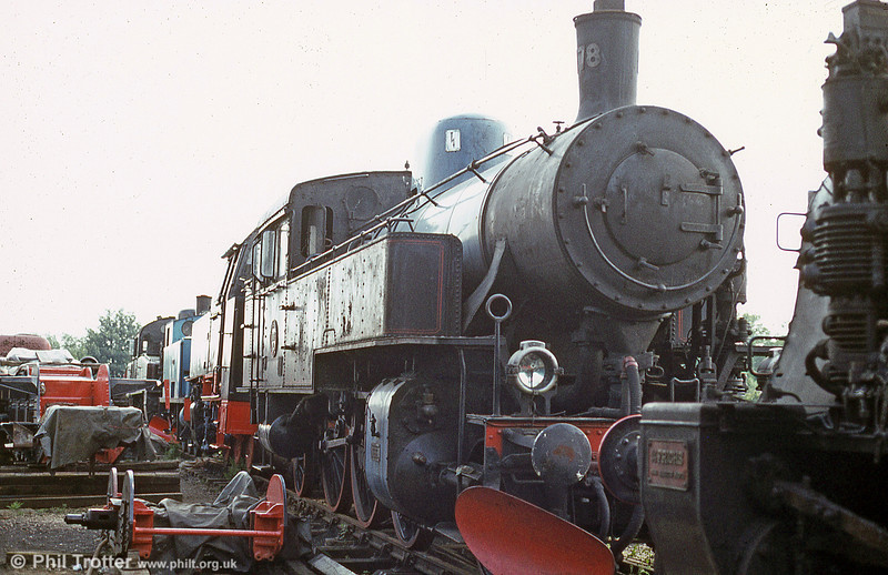 Statens Järnvägar (Swedish State Railways) S class 2-6-2T no. 1178, built by Motala in 1914 at the Nene Valley Railway in July 1984.