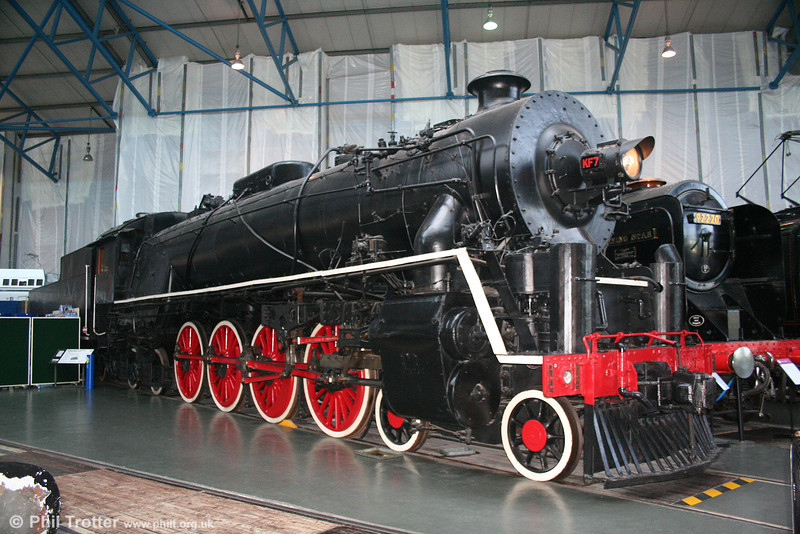 The 1935 Chinese Locomotive Class KF1 No 7 (KF1-7) was designed by the Technical Advisor to the Chinese Ministry of Railways, to run on the Canton-Hankow railway. It is now preserved at the NRM, York and is seen here on 1st May 2007.