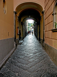 Ancient Street in Naples, Italy.