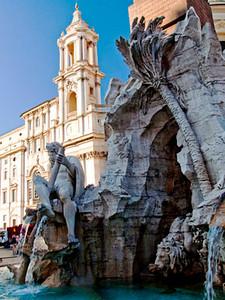 Fontana dei Quattro Fiumi Piazza Navona Rome Italy