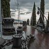Deck of The Puglia - in Vittoriale, gardens of the villa of Gabriel d'Annunzio, Lake Garda
